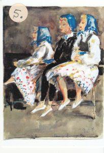 Danseresjes Tineke, Marijke en Els