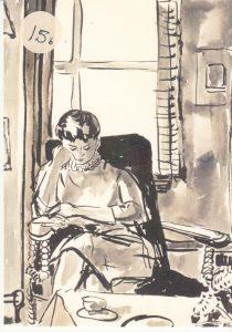 Hanna in stoel