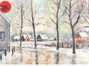 Laageinde bij sneeuw Geldermalsen