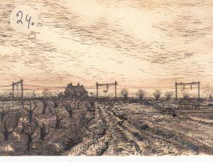 Spoorlijn bij Tricht